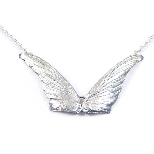 Hummingbird Wings Sterling Silver Necklace