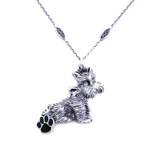 Pewter Terrier Necklace