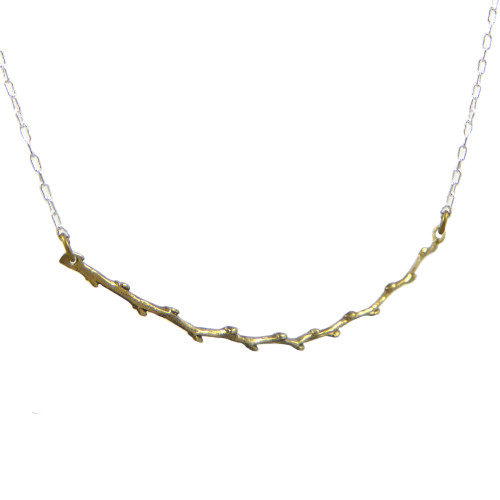 Cast Bronze Budding Twig Necklace
