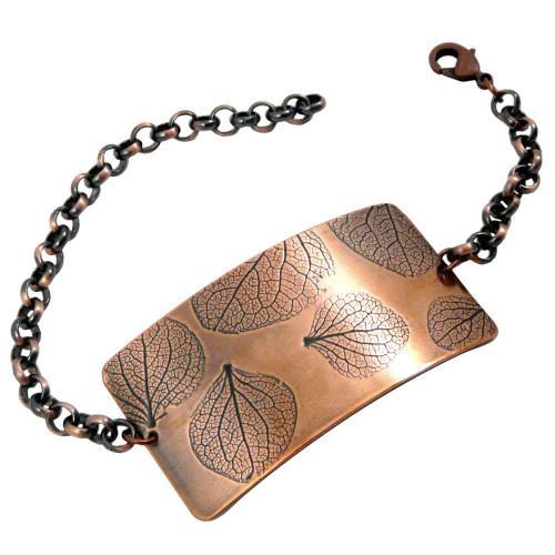 Hydrangea Impression Copper Bracelet