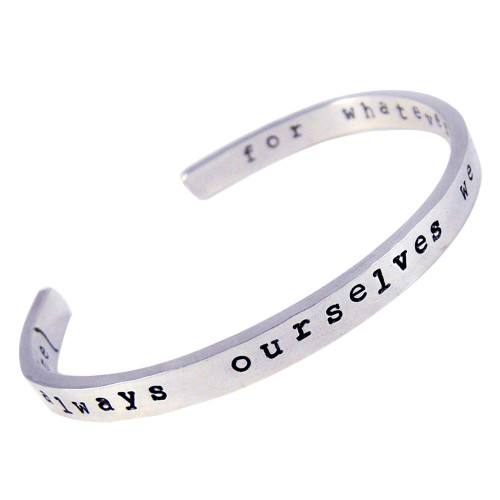 It's Always Ourselves We Find in the Sea Sterling Silver Cuff Bracelet