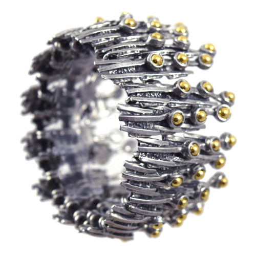 Modernist Pewter Emanation Bracelet