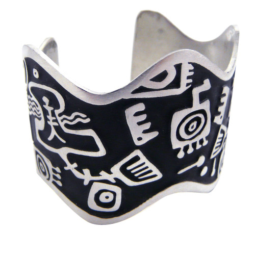 Primordial Soup Stylized Pewter Cuff