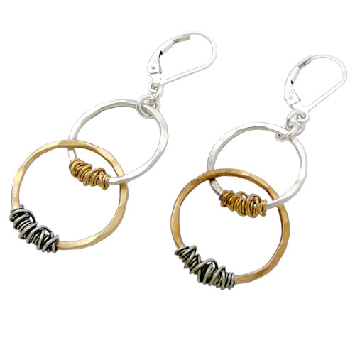 Interlocking Eternity Circles Earrings