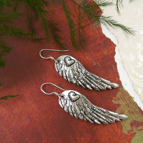 Hope is the Dream of a Soul Awake Silver Wing Earrings
