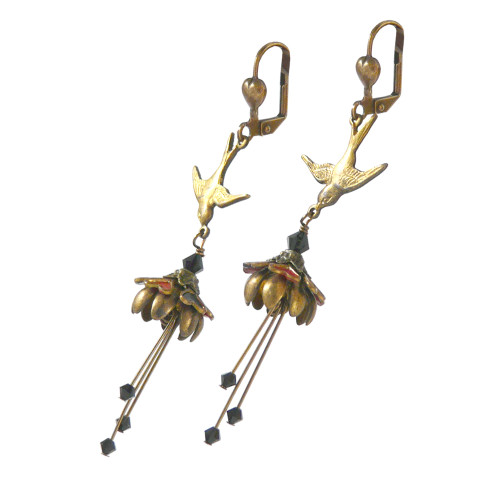 Fairy Flower Earrings : Queen of Hearts