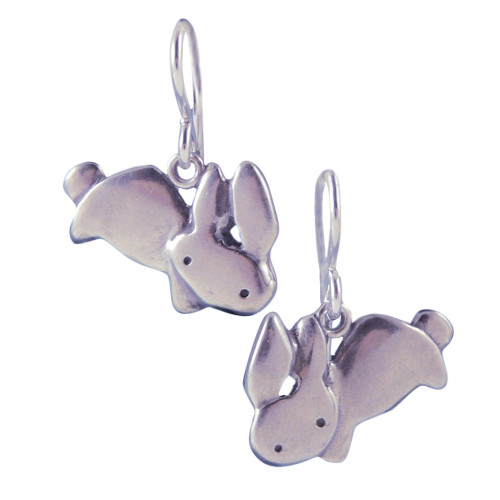 Love Bunny Sterling Silver Earrings