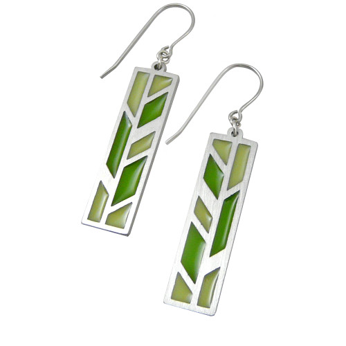 Modern Stainless Steel Prairie Earrings