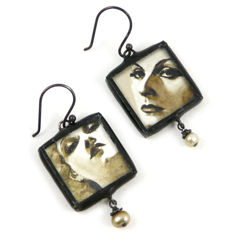 Classic Silver Screen Diva Earrings