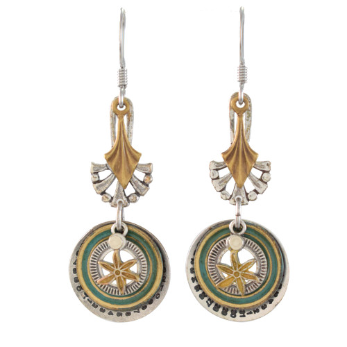 Classic Clockwork Component Dangle Earrings