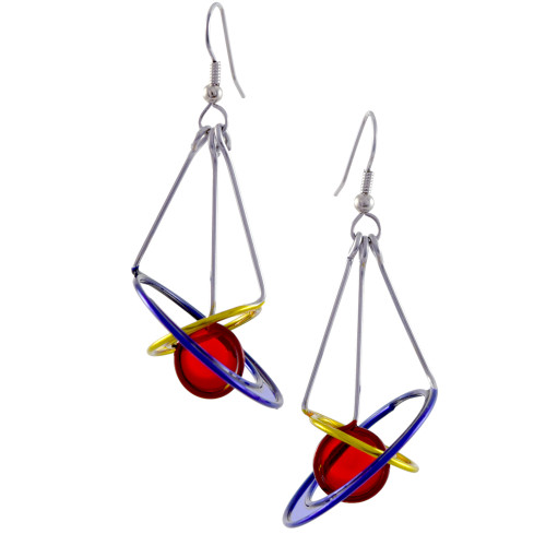 Kinetic Sculpture Inspired Earrings: Cosmos