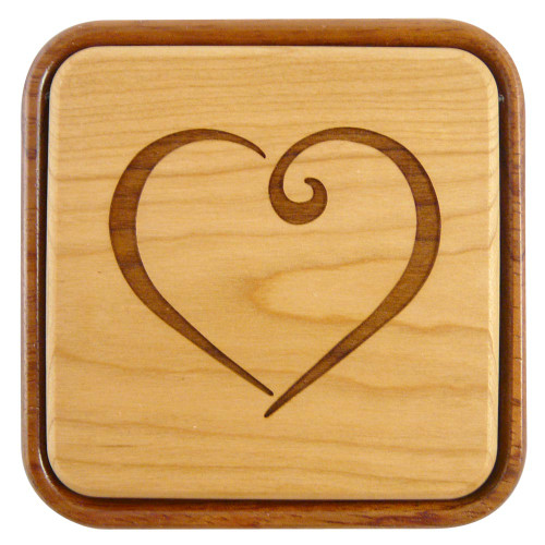 Flip-Top Keepsake Box : I Love You Heart