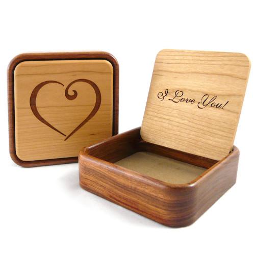 Flip-Top Keepsake Box : I Love You Heart