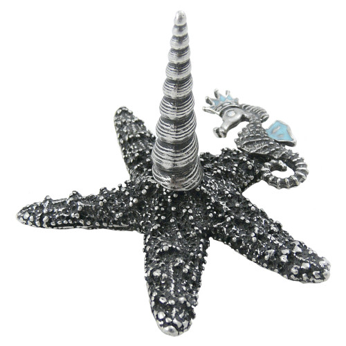 Pewter Starfish Ring Holder
