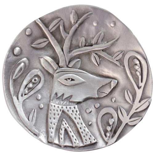 Cast Pewter Art Ring Dish - Majestic Deer
