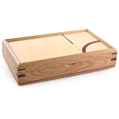 Cherry Wood Modern Craftsman Valet Box