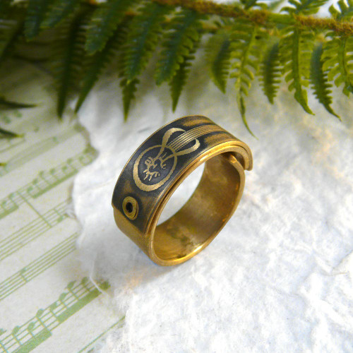 Industrial Brass Ring for Men