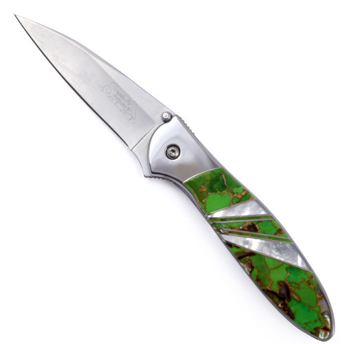 Kershaw 'Leek' Pocket Knife with Lime Green Turquoise Blend Handle