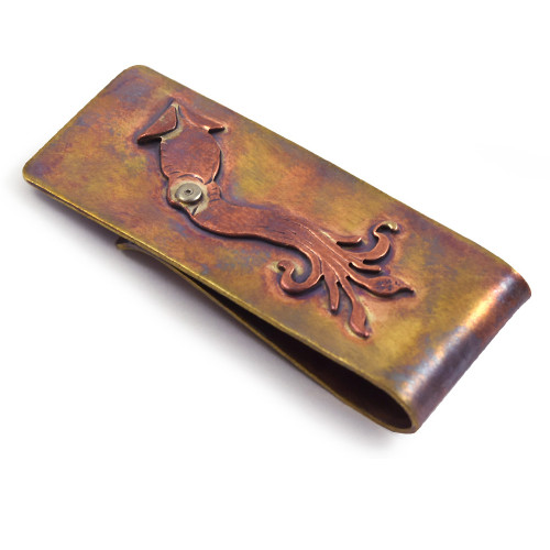 Bronze Money Clip - Giant Squid