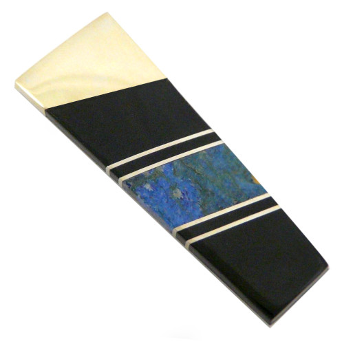 Gemstone Money Clip: Lapis Lazuli and Jet