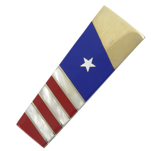 Gemstone Money Clip: American Flag Motif