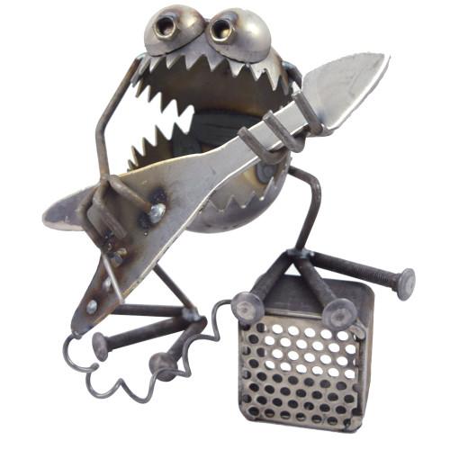 Guitar Monster Reclaimed Metal Sculpture