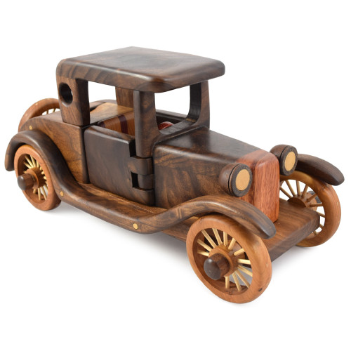 Rumble Seat Roadster Fine Wood Puzzle Sculpture