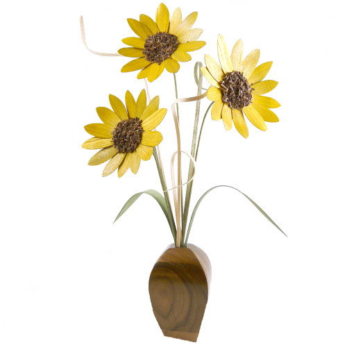 Wood Sunflowers Arrangement