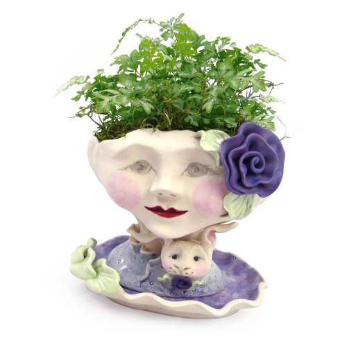 Victorian Lovelies Planter - Bunny Rose Version