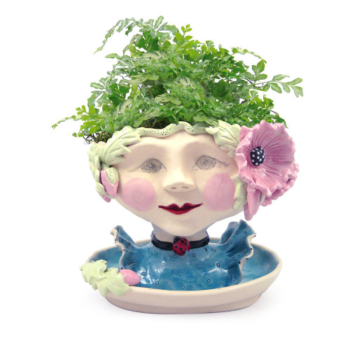 Victorian Lovelies Planter - Poppy Pink Version