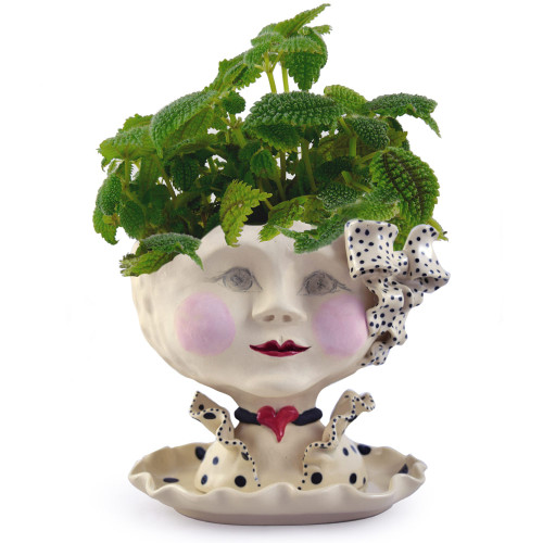 Victorian Lovelies Planter - Dotty Debutante Version