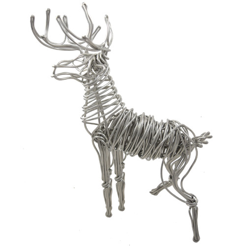 Aluminum Wire Stag Tabletop Sculpture