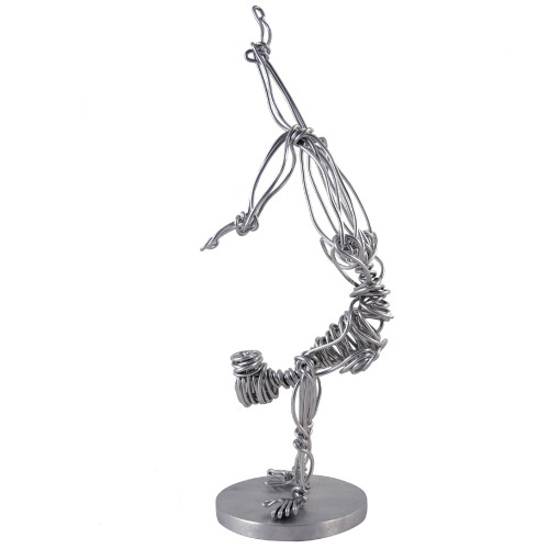 Aluminum Wire Handstand Sculpture
