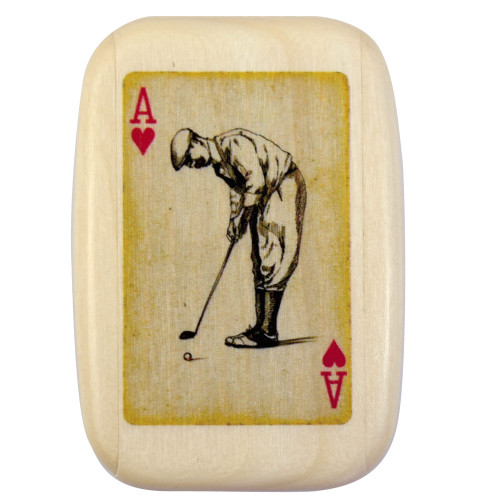 Golfer Tee Caddy Box, Male Version