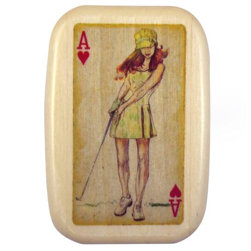 Golfer Tee Caddy Box, Female Version