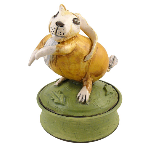Storybook Bunny Sculptural Ceramic Keepsake Box