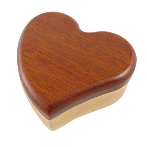 Hardwood Puzzle Box : Heart Design
