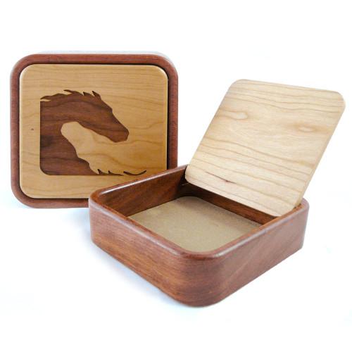 Flip-Top Keepsake Box : Yin Yang Horses