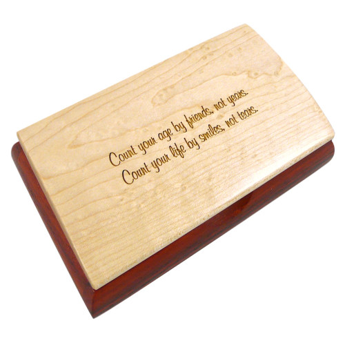 Inspiration Box - Count Your Age by Friends Birthday Quote