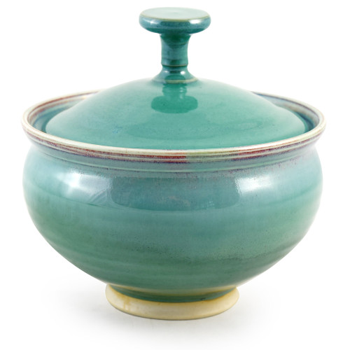 Orchid Green Pottery Collection: Lidded Candy Dish