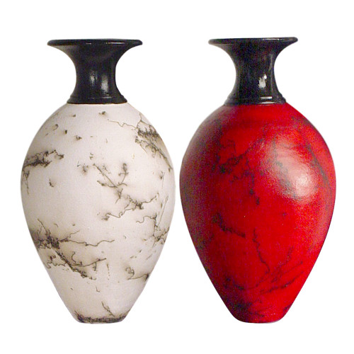 Classic Horsehair Pottery Vases