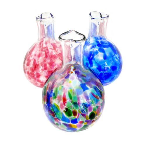 Heart-Stemmed Blown Glass Bud Vase