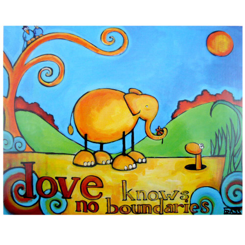 Artimals 8x10 Bamboo-Mounted Print: Love Knows No Boundaries