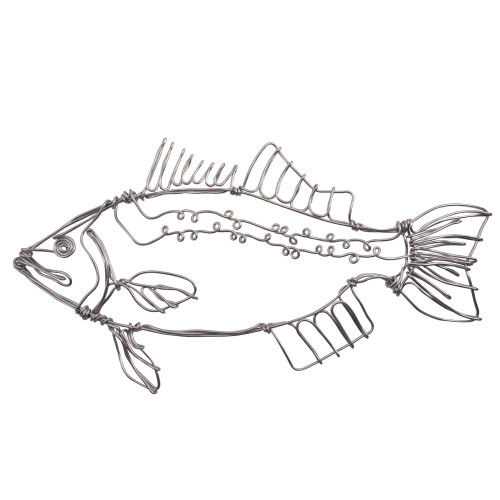 Aluminum Wire Rockfish Wall Sculpture