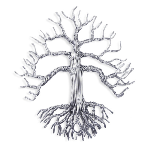 Aluminum Wire Tree of Life Wall Sculpture