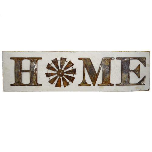 Reclaimed Barnwood Sign: Windmill Home