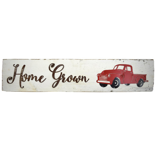 Reclaimed Barnwood Sign: Home Grown