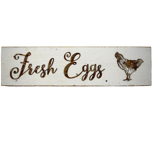 Reclaimed Barnwood Sign: Fresh Eggs