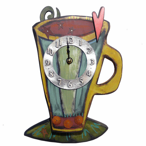 Carved Coffee Cup Clock