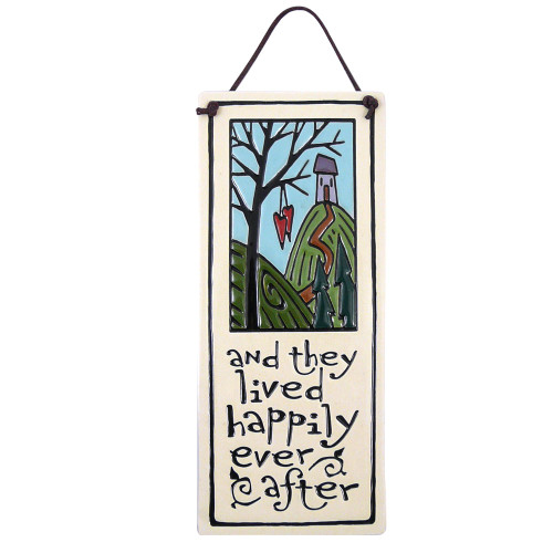 Happily Ever After Ceramic Quote Plaque